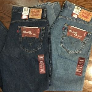 LEVIS 550 Relaxed Fit Tapered Leg Jeans 36x32 NWT